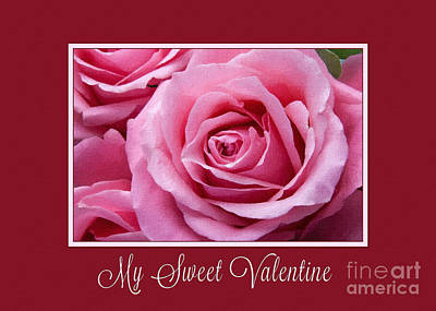 Digital Art - Sweet Valentine Pink Rose by JH Designs