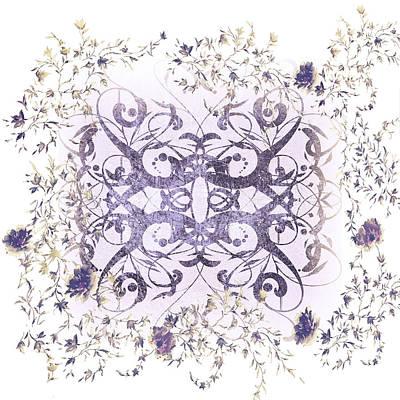 Sweet Violet Minimalist Art Art Print by Georgiana Romanovna