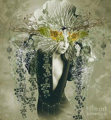 Digital Art - Sweet Webs Of Design by Ali Oppy