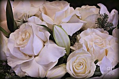 Photograph - Sweet White Roses by Jenny Revitz Soper