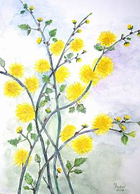 Painting - Sweet Yellow Blossom by Joy of Life Art Gallery