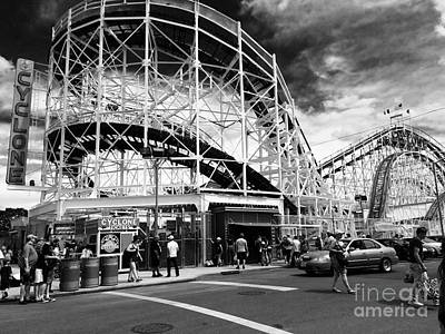 Cyclone Rollercoaster Photograph - Sweet16 by Sue Barrasi