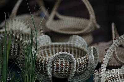 Vintage Pink Cadillac - Sweetgras Baskets in Charleston SC by Dale Powell
