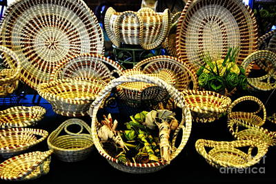 Photograph - Sweetgrass Baskets And Palmetto Roses by Jacqueline M Lewis