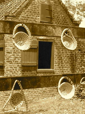 Sweetgrass Baskets And Slave Shack Art Print by Staci-Jill Burnley