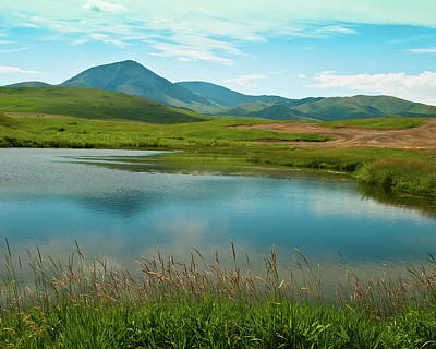 Photograph - Sweetgrass Hills Fishing Hole by Harry Strharsky