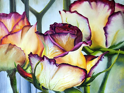 Painting - Sweetheart Roses by Terry R MacDonald