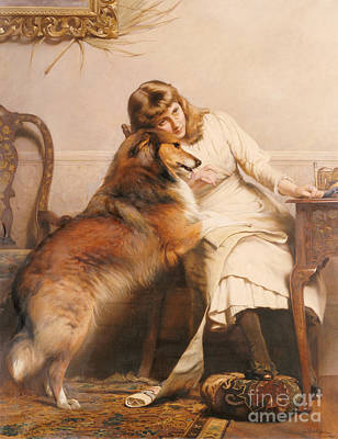 Sweethearts, 1890 Art Print