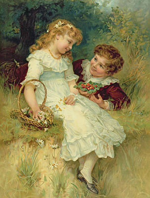 Sweethearts Art Print by Frederick Morgan