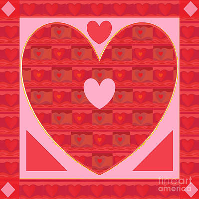 Mixed Media - Sweethearts by Helena Tiainen