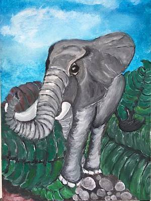 Painting - Sweetie Elephant  by Mimi Eskenazi