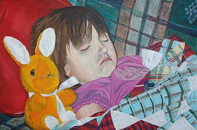Art Print featuring the painting Sweetie Pie by Kevin Callahan