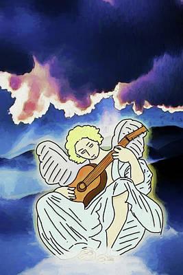 Digital Art - Sweetly Singing by John Haldane