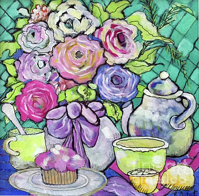 Painting - Sweetness And Tea by Rosemary Aubut