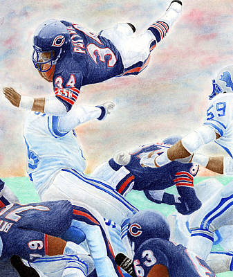 Sports Wall Art - Pastel - Sweetness Over The Top by Lyle Brown