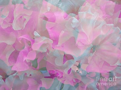Digital Art - Sweetpea Floral Abstract by Joan-Violet Stretch