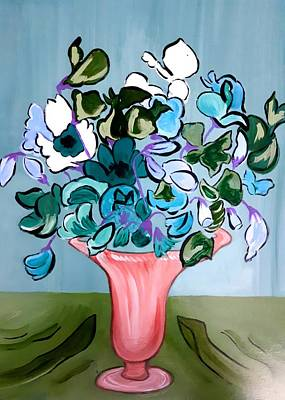 Painting - Sweetpeas by Nikki Dalton