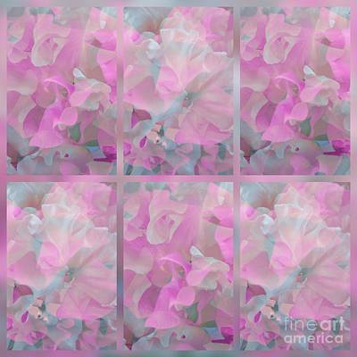 Digital Art - Sweetpeas Tile Pattern by Joan-Violet Stretch