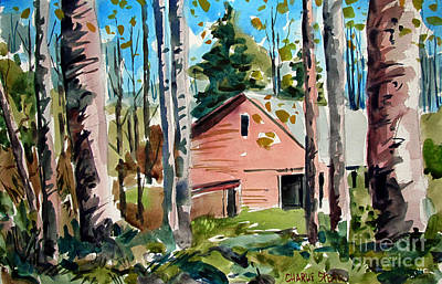 Indiana Landscapes Painting - Sweetwater Farm In The Valley With A Doubled Matt by Charlie Spear