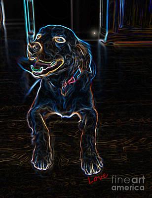 Golden Retriever Digital Art - Sweety The Dog by RL Curtis
