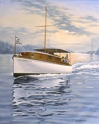 St. Lawrence River Painting - Swell by Richard De Wolfe