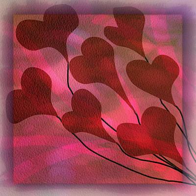 Digital Art - Swept Away In Your Love Watercolor Painting by Debra and Dave Vanderlaan