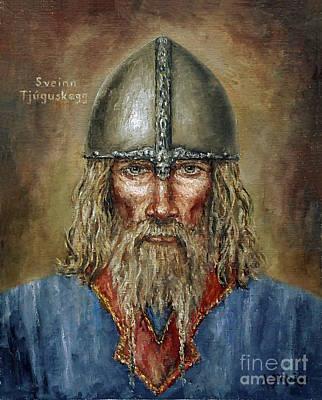 Painting - Sweyn Forkbeard by Arturas Slapsys
