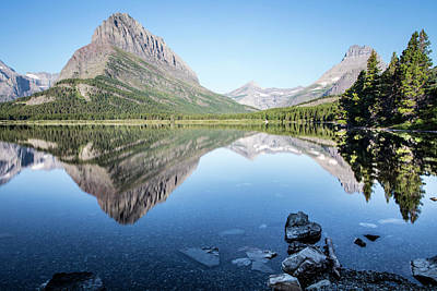 Photograph - Swift Current Lake Reflection In Summer  by John McGraw
