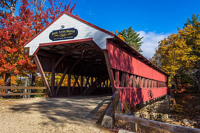 Covered Bridge Photograph - Swift River Bridge by Scott Patterson