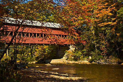 Swift River Covered Bridge In Conway New Hampshire Art Print by Jeff Folger
