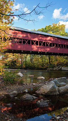 Swift River Covered Bridge Art Print