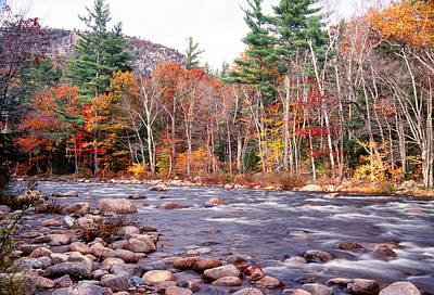 Rocky Creek Photograph - Swift River Fall Scenic by George Oze
