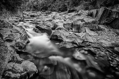Photograph - Swift River In Coos Canyon In Black And White by Rick Berk