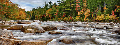 Swift River Runs Through Fall Colors Art Print