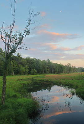 Photograph - Swift River Sunset by John Burk