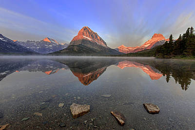Photograph - Swiftcurrent Dawn by Jack Bell