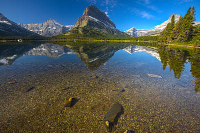 Photograph - Swiftcurrent Lake by Gary Lengyel