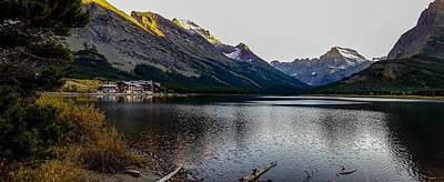 Photograph - Swiftcurrent Lake In Glacier National Park by Marilyn Burton