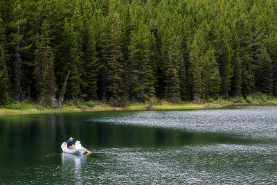 Photograph - Swiftcurrent Lake Many Glacier Montana by Waterdancer