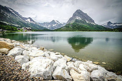 Photograph - Swiftcurrent Lake by Margaret Pitcher