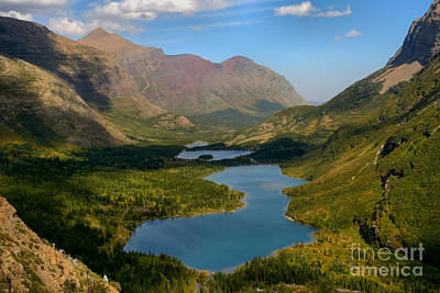 Photograph - Swiftcurrent Lakes Of Many Glacier by Adam Jewell