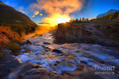 Photograph - Swiftcurrent Steamy Sunburst by Adam Jewell