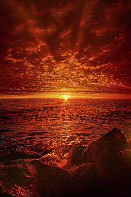 Print featuring the photograph Swiftly Flow The Days by Phil Koch