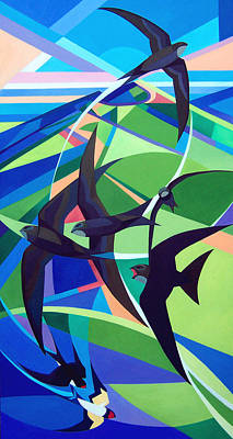 Swifts And Swallows Original by Alison Ingram