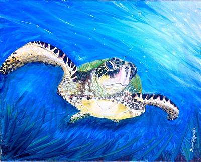 Painting - Swim by Dawn Harrell