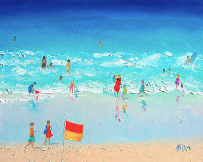 Tropical Painting - Swim Day by Jan Matson