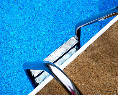 Swim Ladder Photograph - Swim by Mary Beth Landis