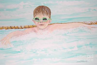 Painting - Swim Meet by Janna Columbus