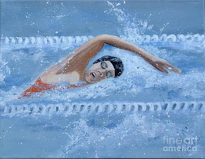 Painting - Swimmer by Kim Chambers