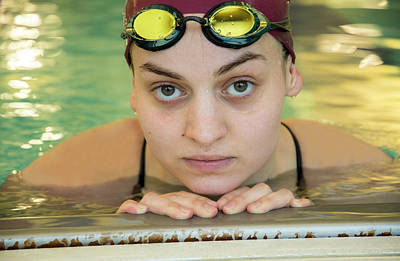 Photograph - Swimmer Senior Portrait by Jani Freimann